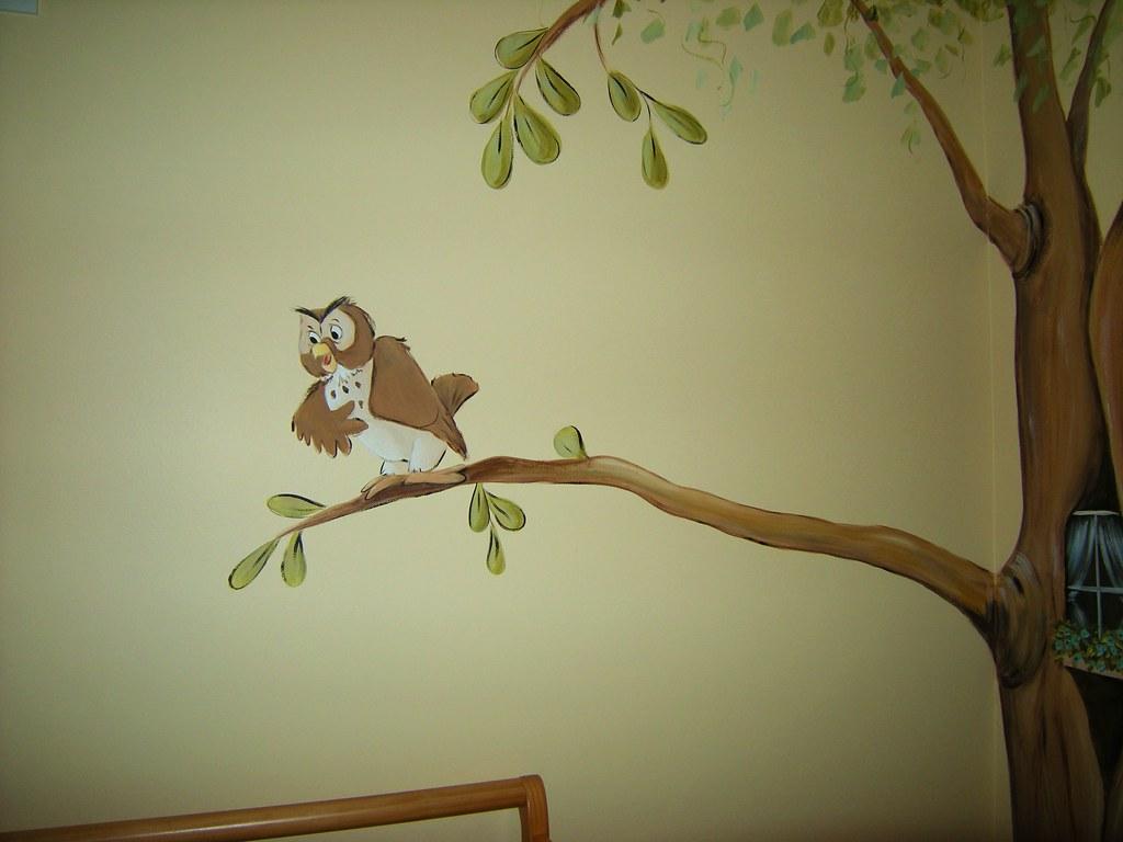 Winnie The Pooh Baby Nursery Mural Owl Welcome To My Flic