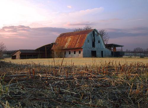 sunset landscape brandystation culpepercounty vabarn