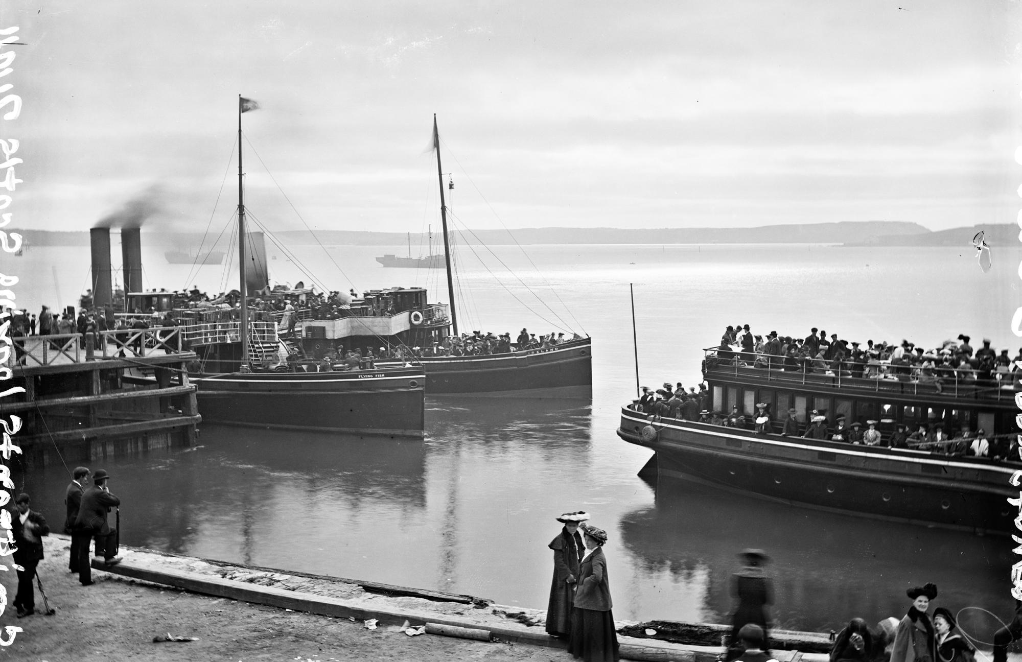 Emigrants leaving. Scotts Quay, Queenstown