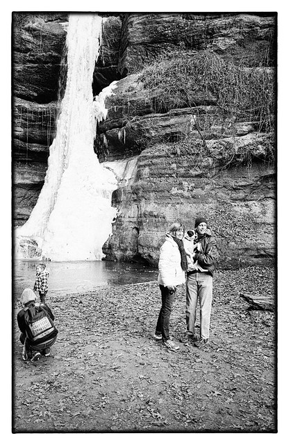 People Playing and Posing at Starved Rock