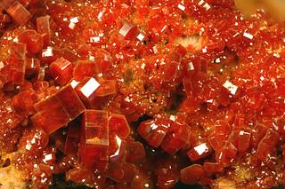 Vanadinite (A'hcif Mine, Mibladen, Morocco) 1