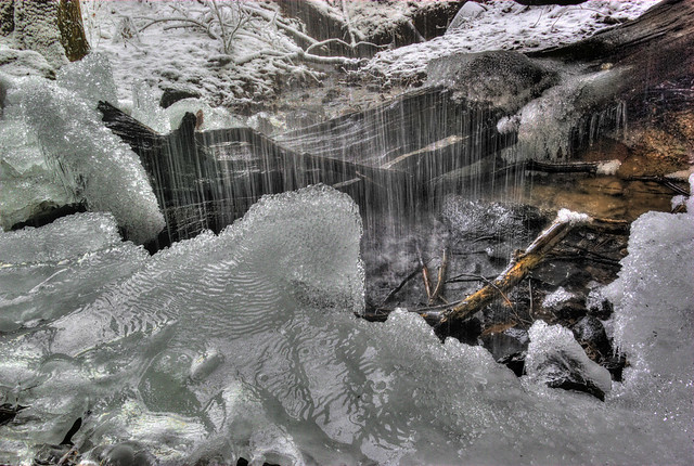 Ice formation at unnamed waterfall, Jamestown, TN
