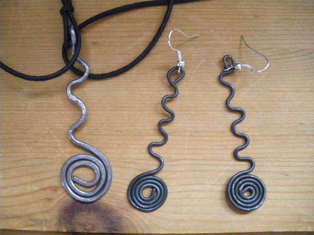 Jewels made by my  granddaughter Cornelia, 10 years old
