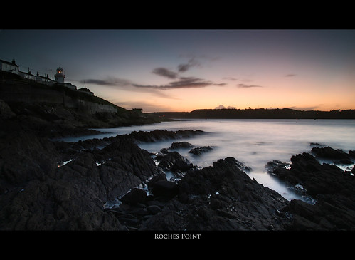 ocean ireland sunset sea lighthouse seascape point landscape cork roches rochespoint
