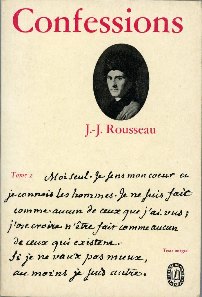 Livre De Poche 1100 1101 Jean Jacques Rousseau Confess