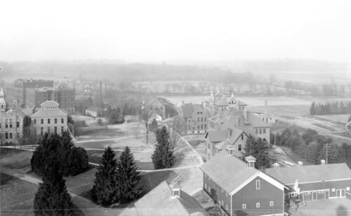 Aerial view North Campus, 1903.