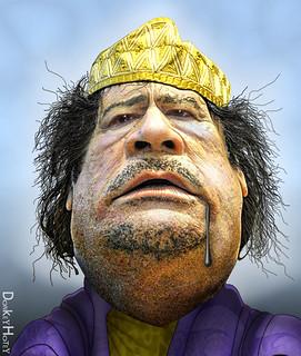 Muammar Gaddafi - Caricature | by DonkeyHotey