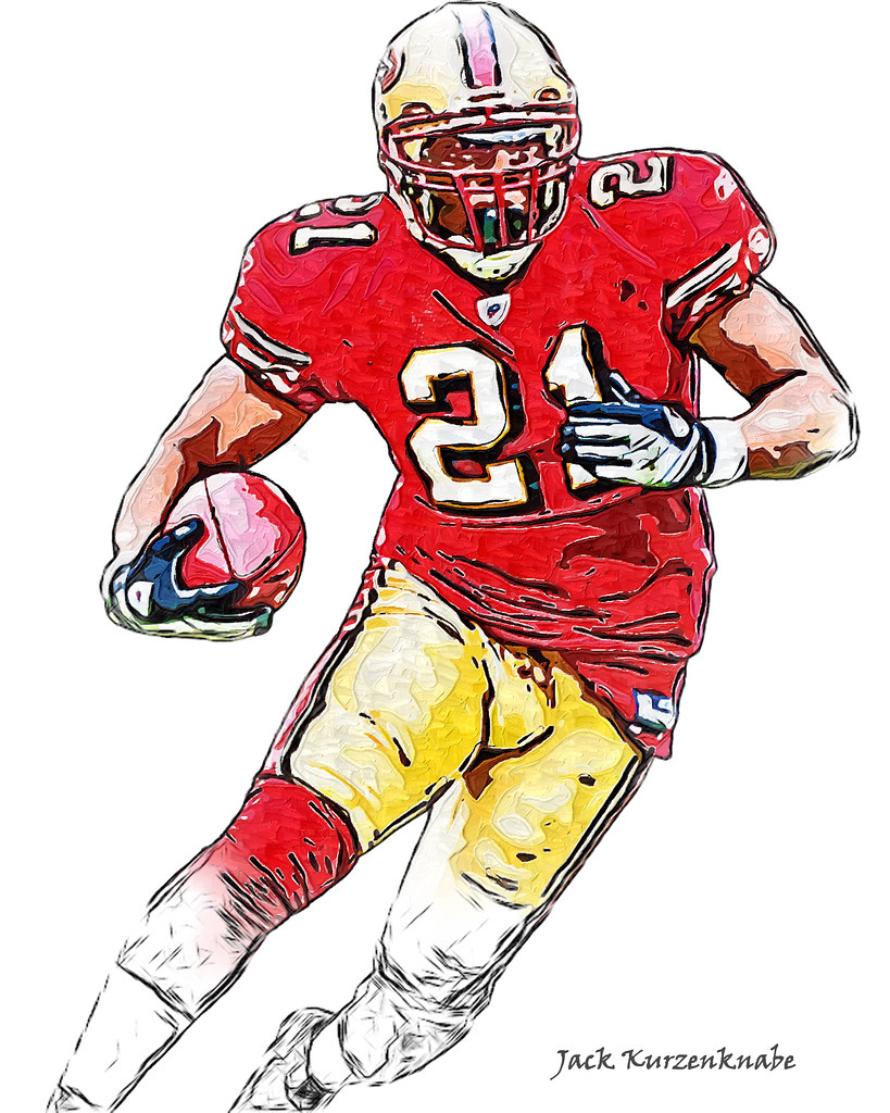 newest 77094 2de89 San Francisco 49ers Frank Gore | View all my NFL drawings ...