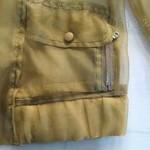 323001(欧跟纱中袖上衣 2 4 6 黑色-杏色-浅黄色  胸86 长50 (2)