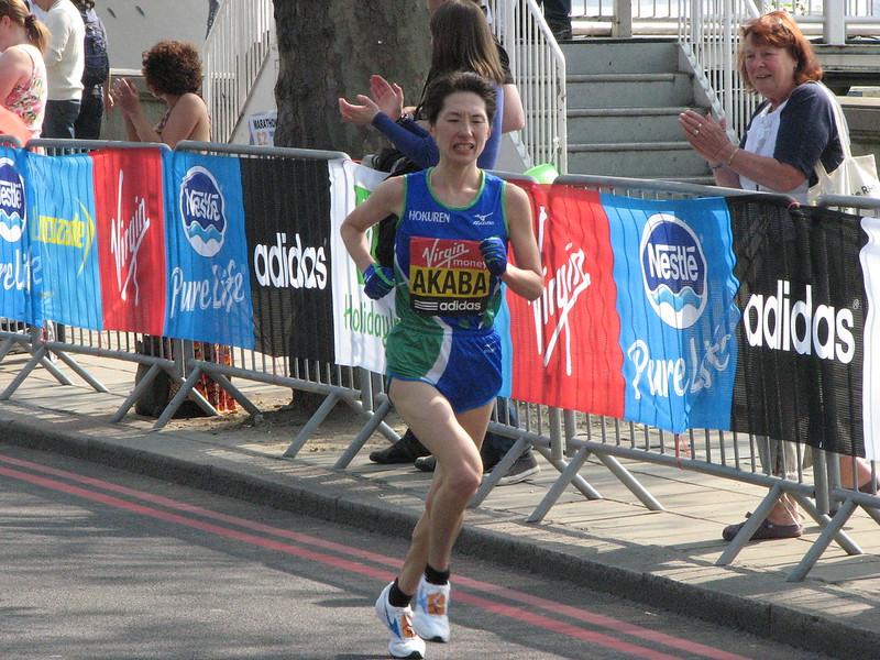 Yukiko Akaba, London Marathon 2011