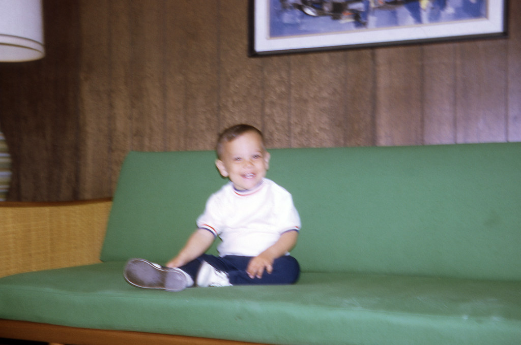 Tommy on the family couch