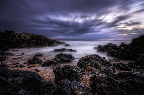 ocean longexposure sky beach clouds sunrise landscape coast rocks pacific australia cliffs hdr highdynamicrange coffsharbour tokinaatx124 40d canon40d coffscoast