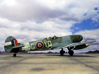 "1:72 Supermarine ""Jetfire"" Mk.I, aircraft 'YQ-G'/'PX204/G' of the Royal Air Force 616 Squadron; Culmhead (Somerset), early 1945 (Whif/Kitbashing)   by dizzyfugu"