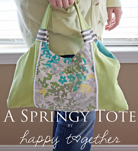 A Springy Tote Tutorial | by ohsohappytogether