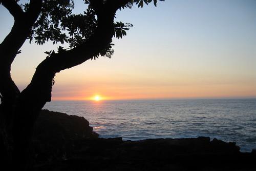 Sunset on Kona, Hawaii