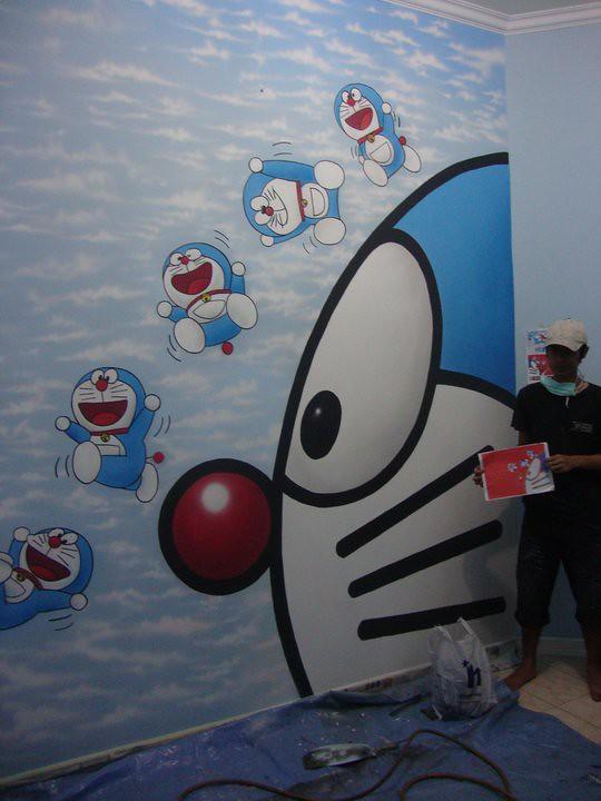 Doraemon Theme Lukis Dinding Airbrush Mural Disney Theme Flickr