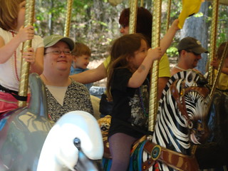 Lauren and Riley on the carousel | by greensborogang