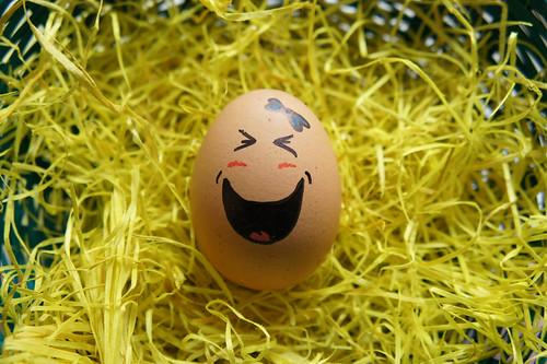 funny egg.   by Julia Kleiner