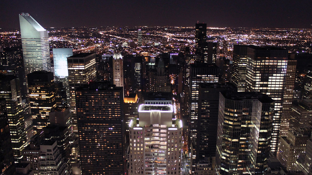 0215 - USA, New York, Night City View | Looking out from