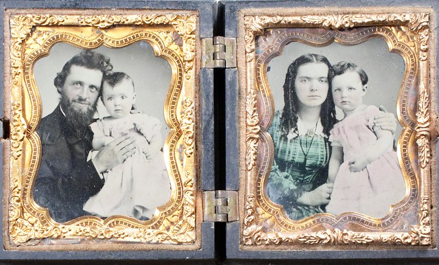 ambro_038 :: double photo of father and mother with children