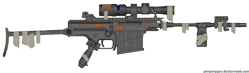Post Apocalyptic Barrett 98B | Meh  Decided to try an apocal