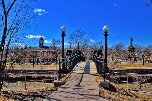 Port Hope  On ~ Canada ~ Historic Walking Bridge ~ Town Hall