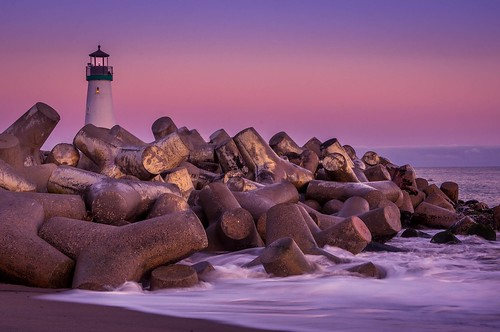 lighthouse seascape ocean landscape