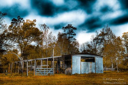 old fall barn spring texas farm hdr photomatix