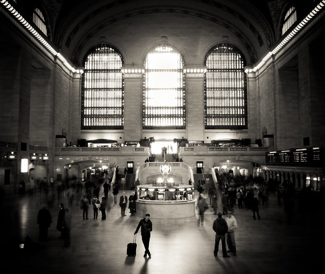 waiting for the call - grand central terminal