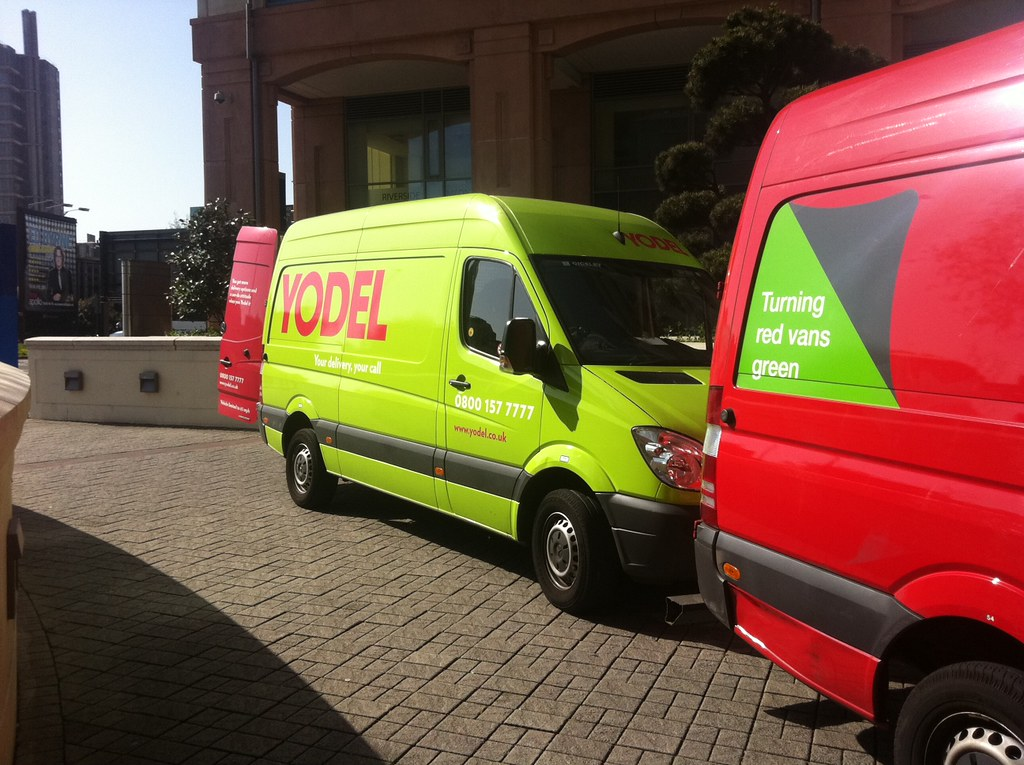 Yodel Spotting Even The Parcelforce Vans Are Turning
