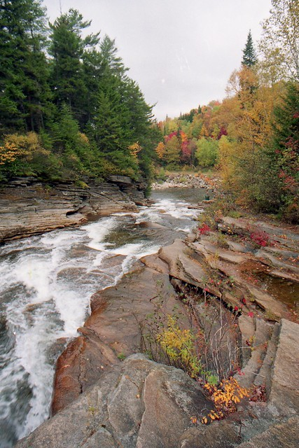 Amonoosuc Lower Falls, looking downstream. 1986?