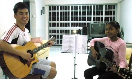 Beginner guitar lessons Singapore Val