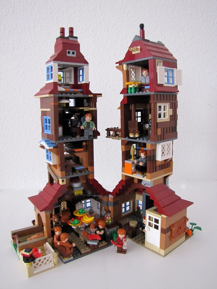 weasley burrow | burrow moc (lego harry potter) - inside