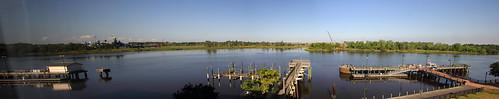 panorama water docks river pier nc dock piers panoramas northcarolina rivers riverfront battleship wilmington ussnorthcarolina battleships capefearriver bb55 museumships