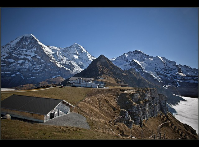 Swiss autumn time, - Eiger , Mönch and Jungfrau.view from The Männlichen  . October 14,2010. no.92
