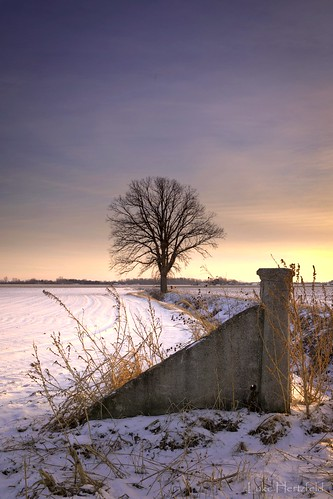 winter sunset snow cold tree field fence evening frozen oak ditch dusk farm whitehouse crop waterville icy lucascounty watervilleohio hertzfeldroad