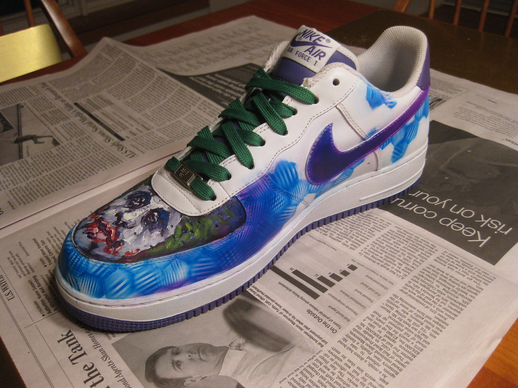 custom joker nike air force ones | custom air force ones nik