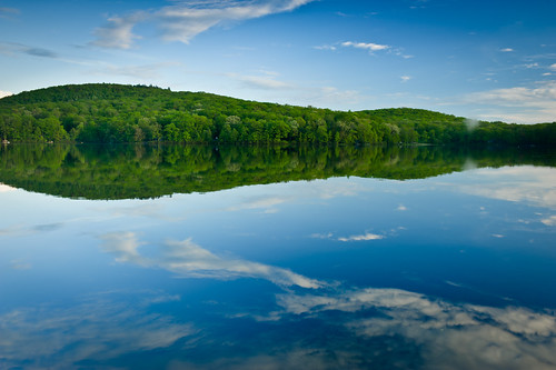 blue connecticut green litchfield lake mttompond mttomstatepark newengland reflection sky water pond