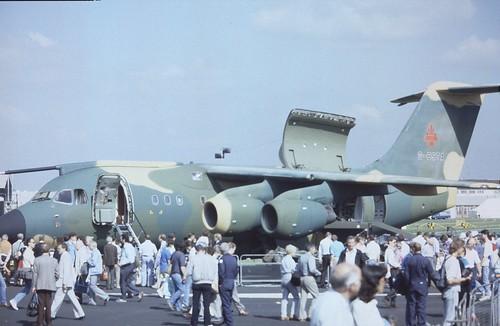 British Aerospace BAe-146-100STA G-BSTA British Aerospace, Farnborough UK, September 1988., Farnborough UK, September 1988. | by ATom.UK
