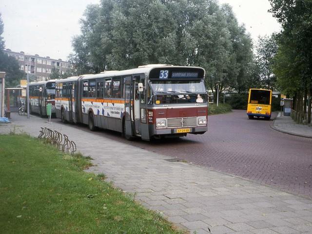 GVB Amsterdam 551, Lijn 33, Waterlandplein (1987)