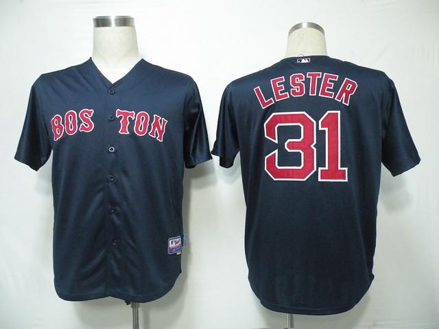 meet 09f3f 80107 MLB Jerseys Boston Red Sox Lester 31# Dark Blue cheap nfl ...