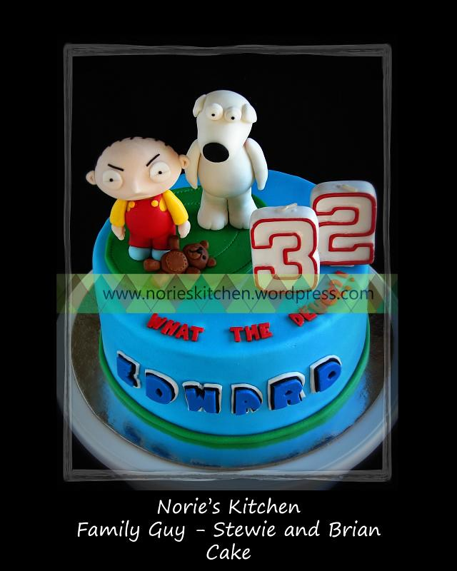 Fabulous Nories Kitchen Family Guy Stewie And Brian Cake Top Flickr Personalised Birthday Cards Veneteletsinfo