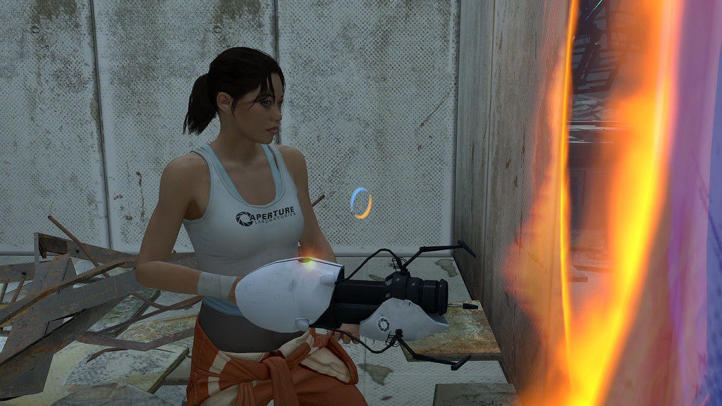 Portal 2 Character | Just playing Portal 2 and this is the c… | Flickr