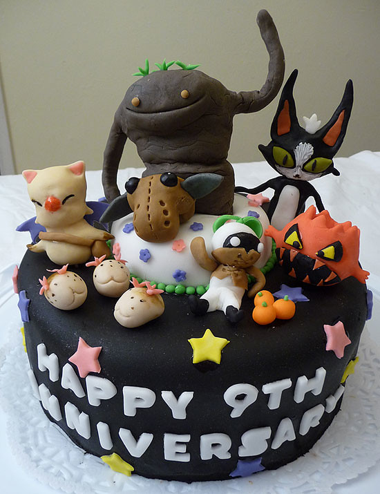 FFXI 9th Anniversary Cake | My entry for the 9th Anniversary… | Flickr