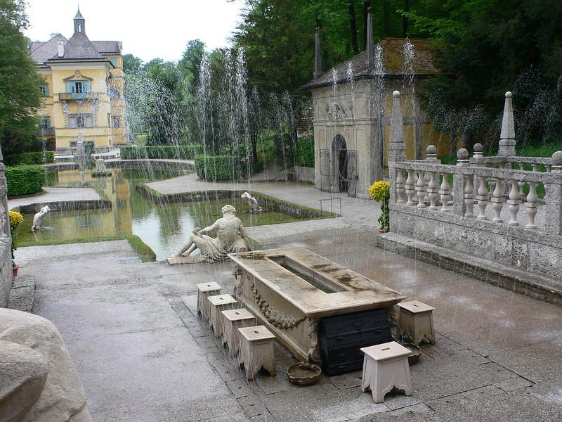 Trick Fountains at Hellbrunn
