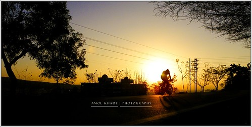 morning sports bicycle ride racing silhoutte pune pp amolkhade