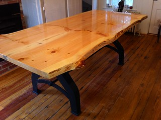 Knotty Pine Slab Table - Frederick, MD