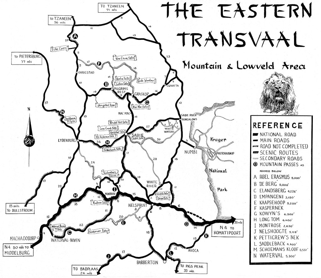 The Eastern Transvaal Area Map | The Tourist in South Africa… | Flickr