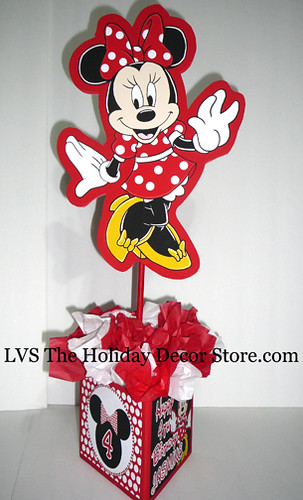 Minnie Mouse Personalized Centerpiece Red White Black Deco Flickr