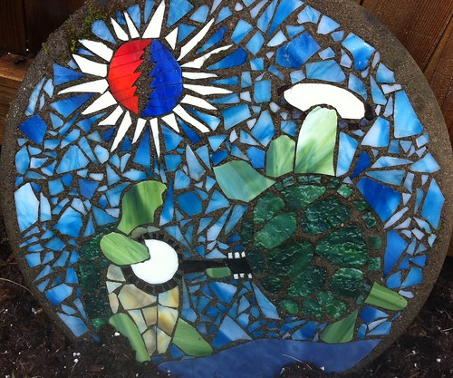 Concrete And Stained Glass Terrapin